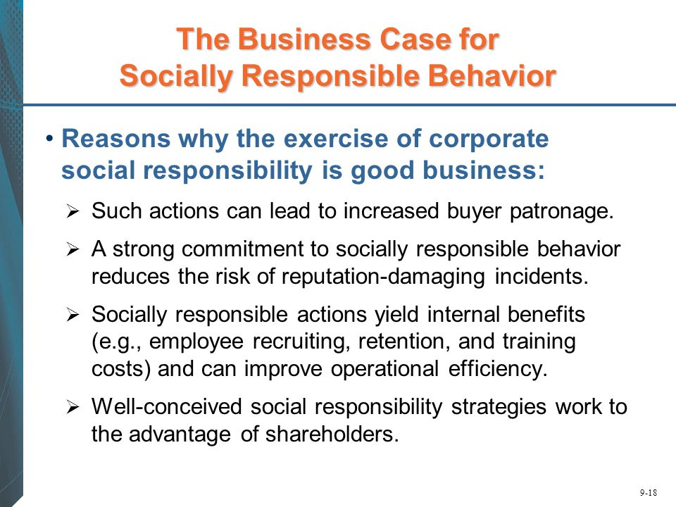 The Business Case for Socially Responsible Behavior