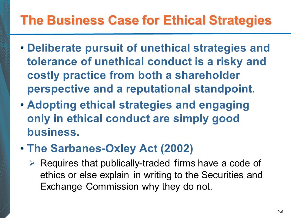 The Business Case for Ethical Strategies