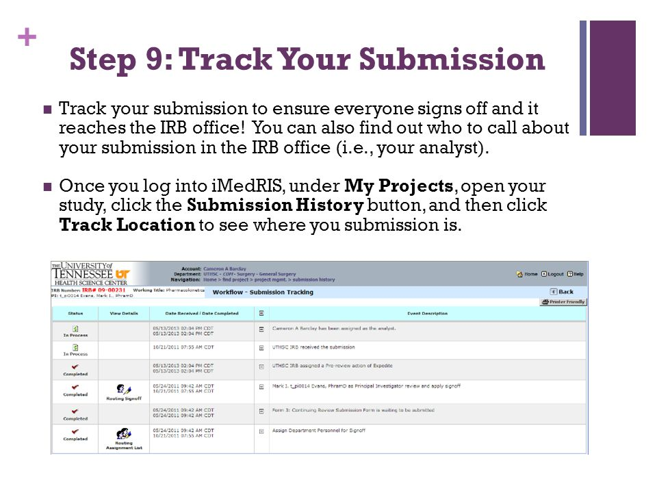 Step 9: Track Your Submission