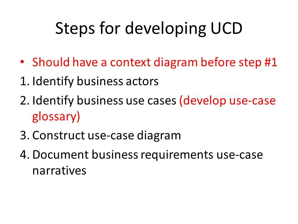 Use case diagram ucd yong choi bpa ppt video online download 20 steps for developing ucd should have a context diagram ccuart Choice Image
