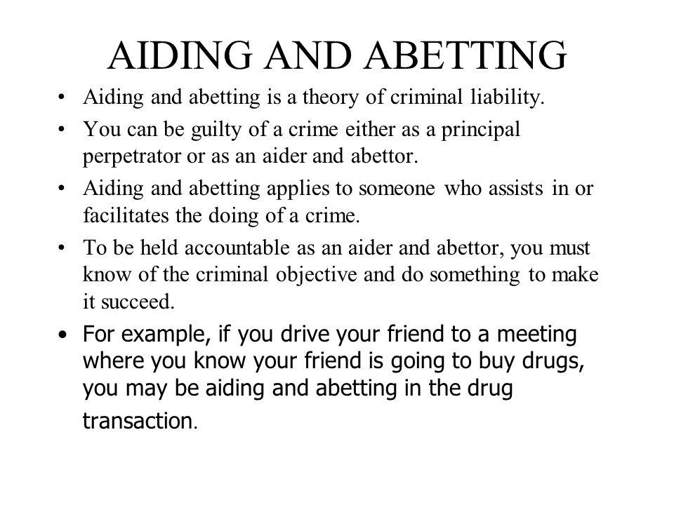 Define abetting