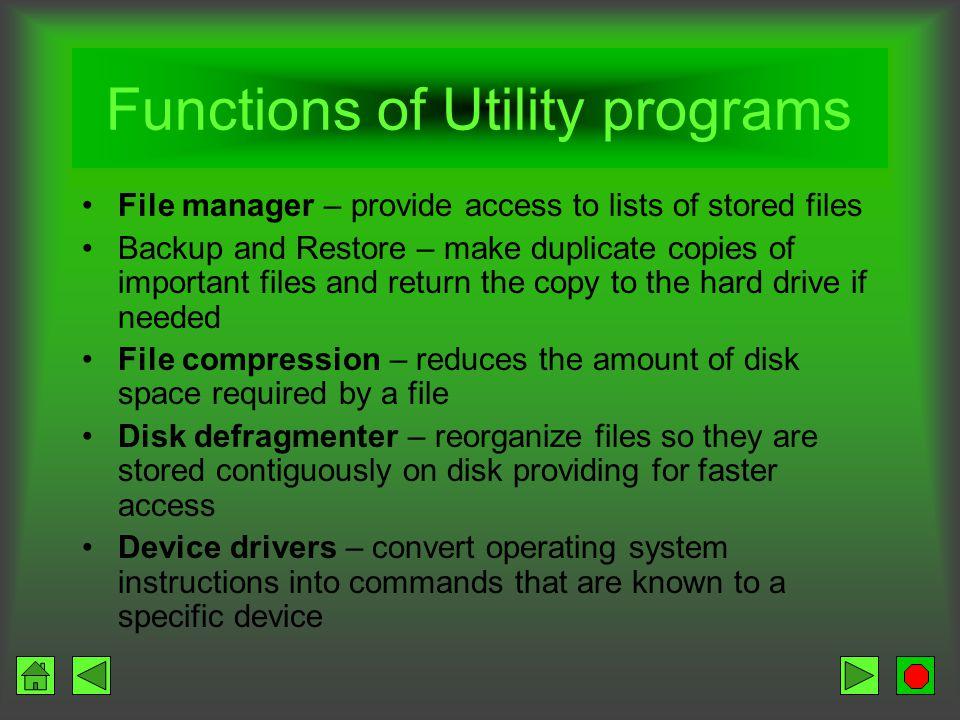 file utility program