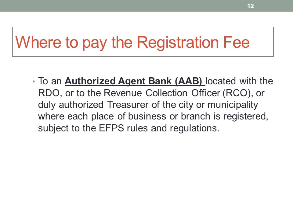 how to pay the registration online