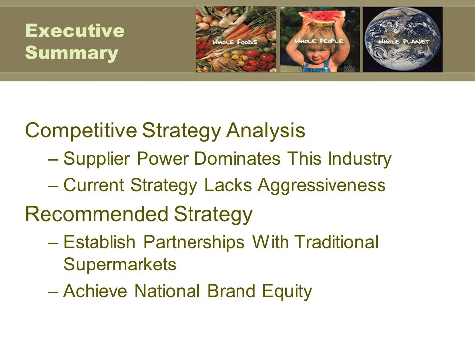 Competitive Strategy Analysis
