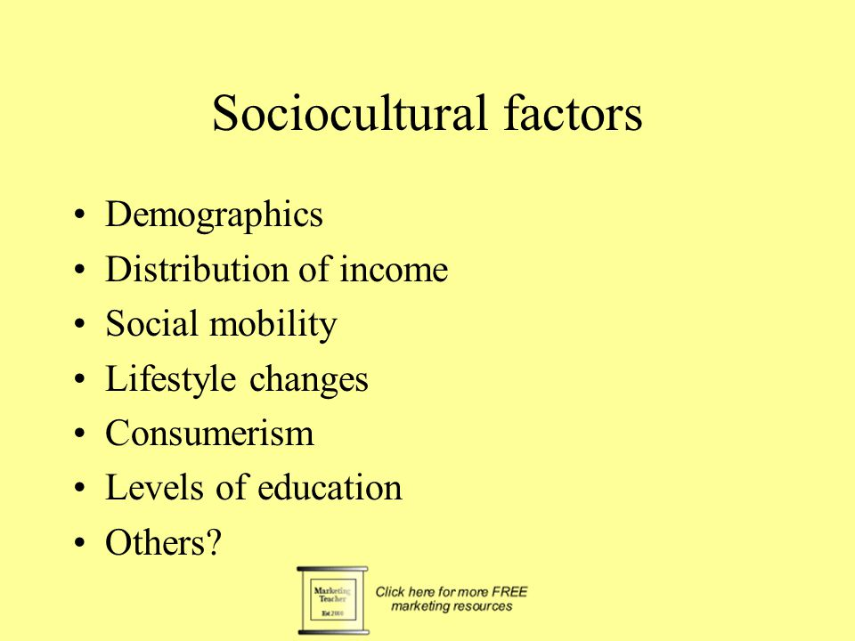 sociocultural forces in marketing