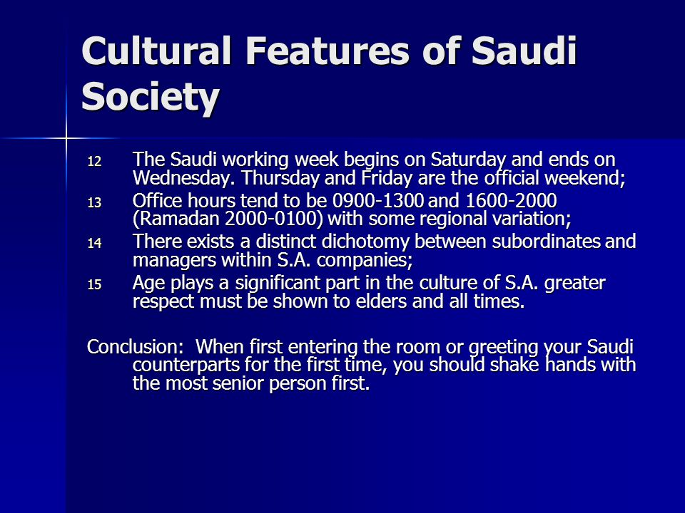 International business practices in saudi arabia cultural effect 7 cultural m4hsunfo