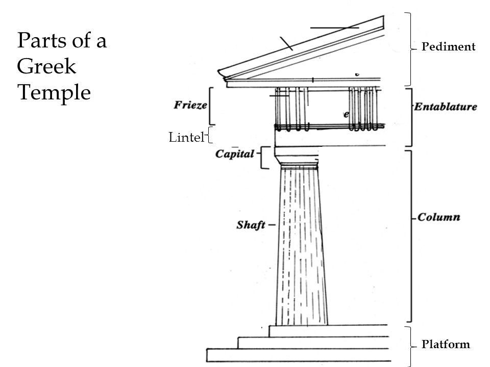 Ancient greece architecture and sculpture ppt video online download 3 parts of a greek temple pediment lintel platform ccuart Image collections