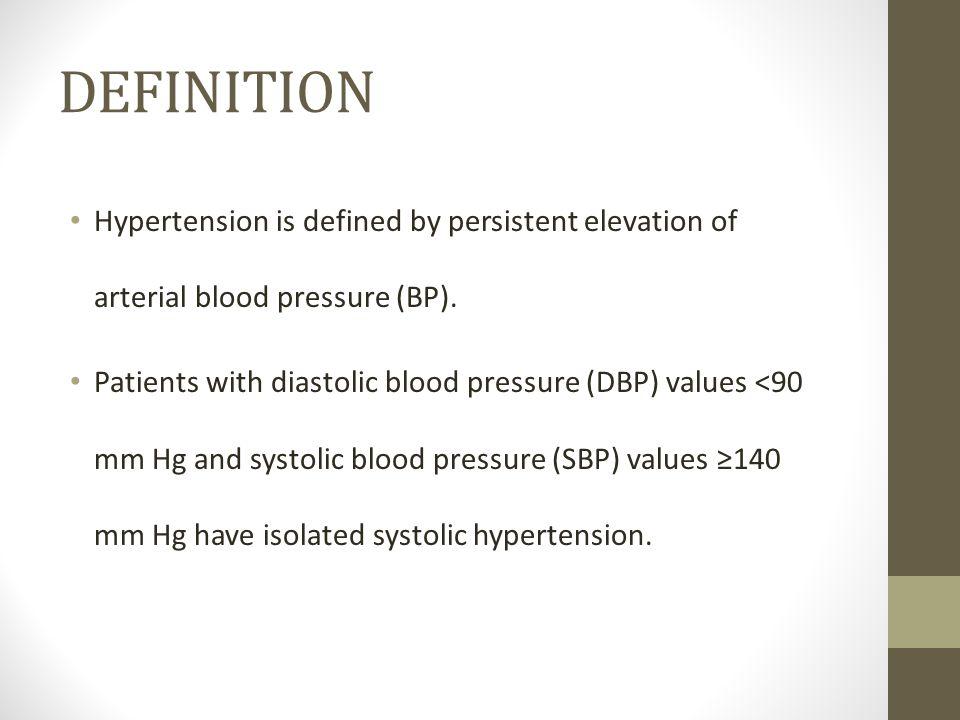 Hypertency: Hypertension Definition