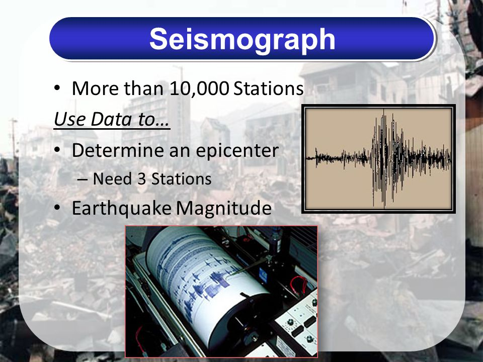 Seismograph More than 10,000 Stations Use Data to…