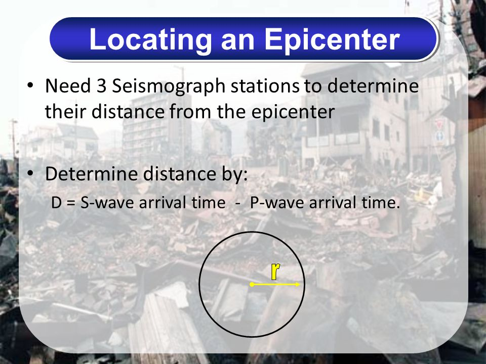 Locating an Epicenter r