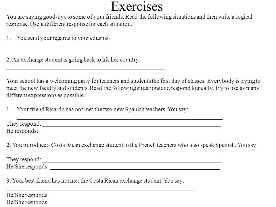 Leave taking expression and introductions in spanish ppt video 4 exercises m4hsunfo