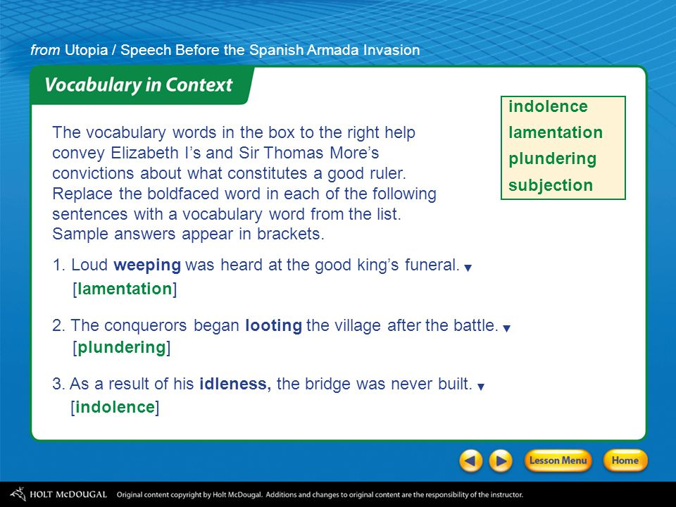 Speech Before the Spanish Armada Invasion Introducing the