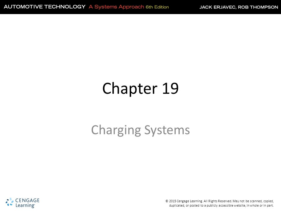 Chapter 19 Charging Systems
