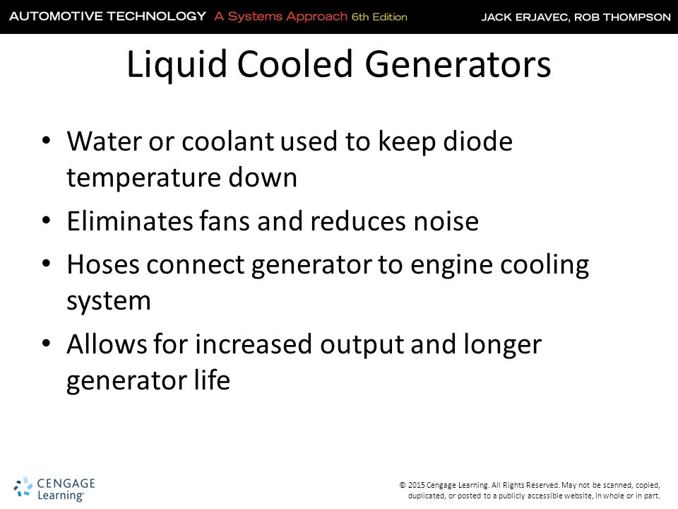 Liquid Cooled Generators