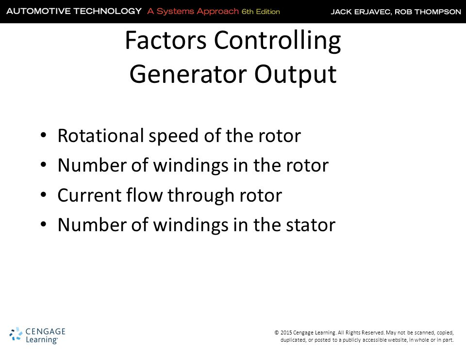 Factors Controlling Generator Output