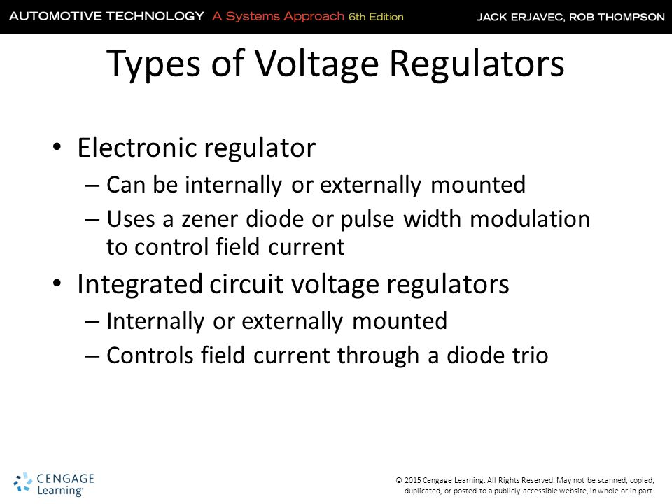Types of Voltage Regulators