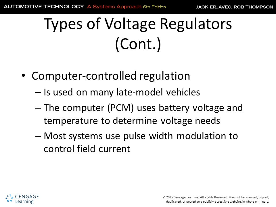 Types of Voltage Regulators (Cont.)