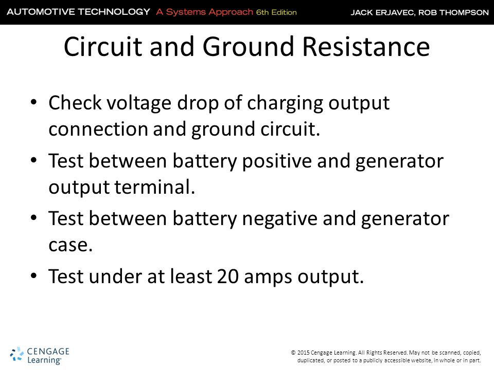 Circuit and Ground Resistance