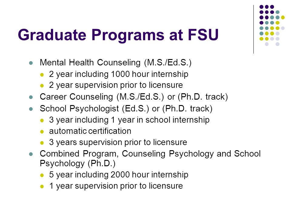 Graduate Programs at FSU