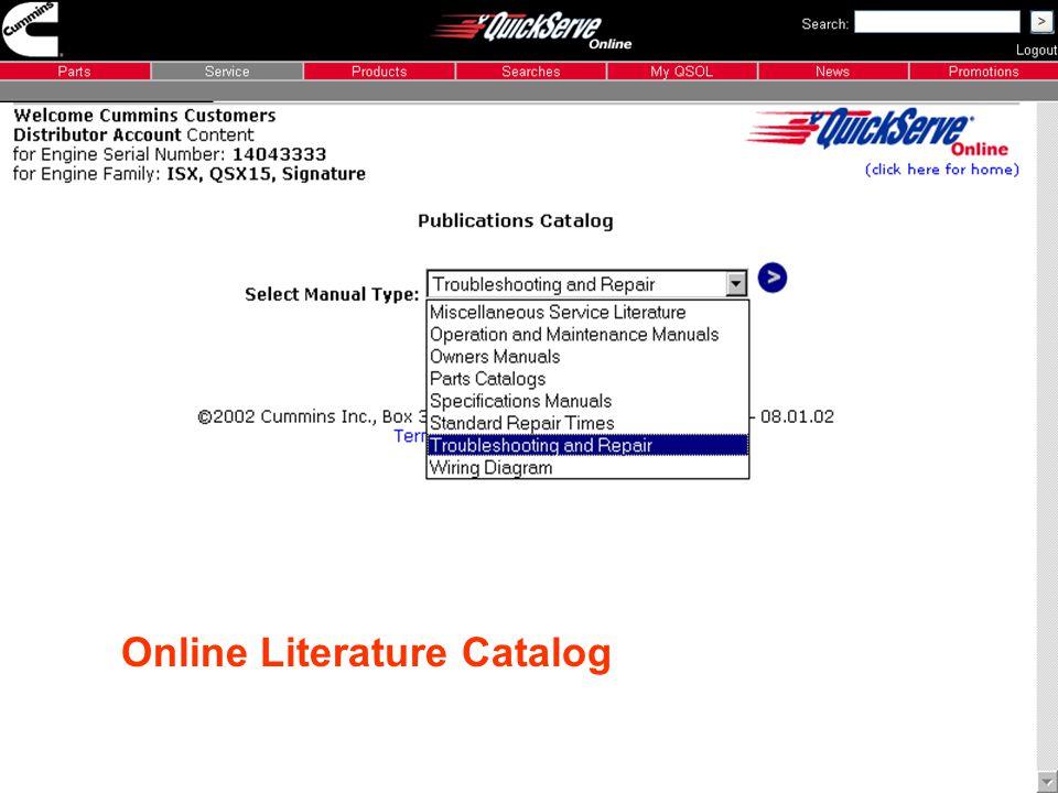 cummins quickserve online registration