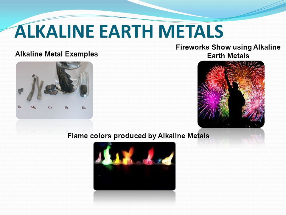 Fireworks Show Using Alkaline Earth Metals