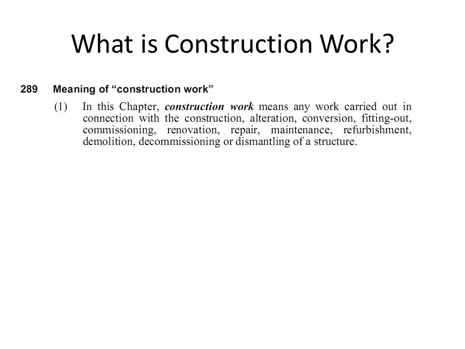 What is Construction Work
