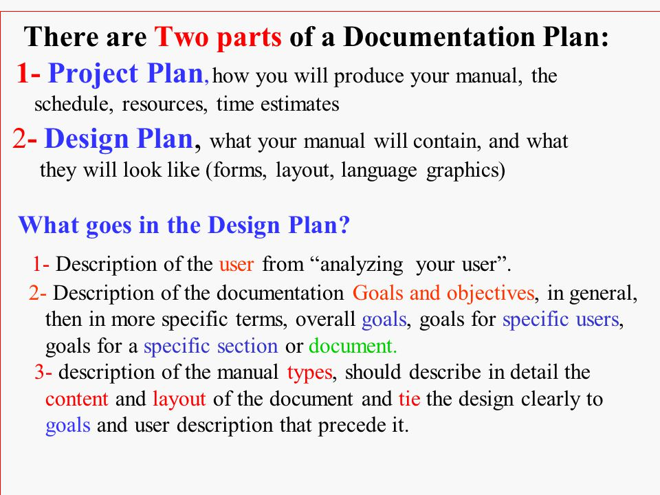Part TWO The Process of Software Documentation Chapter 5