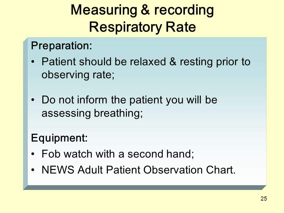 assessing respiratory rate