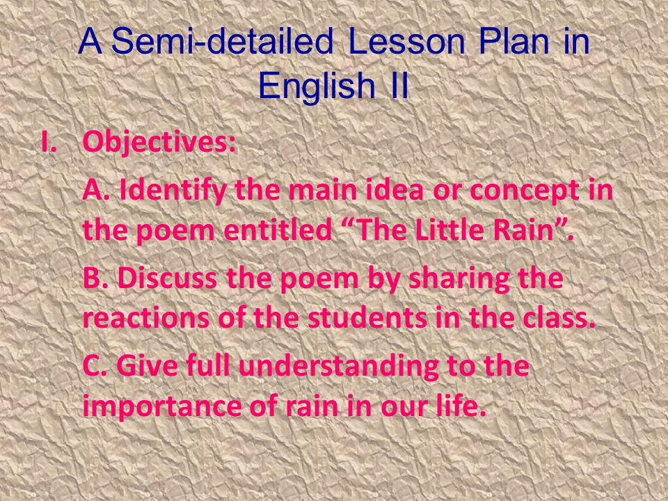 A Semi Detailed Lesson Plan In English II Ppt Video Online
