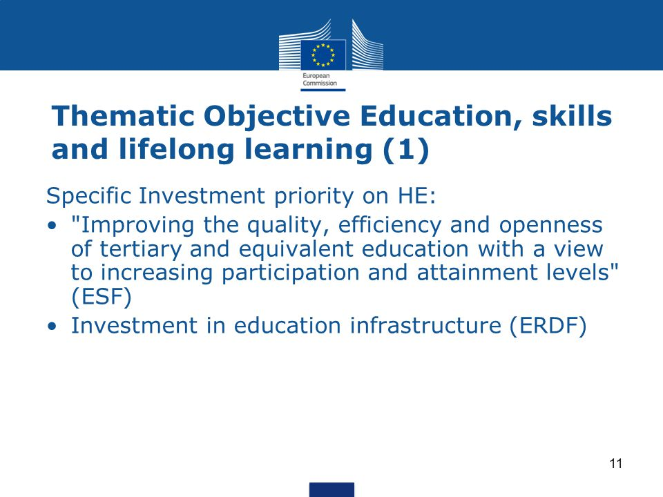 Thematic Objective Education, skills and lifelong learning (1)