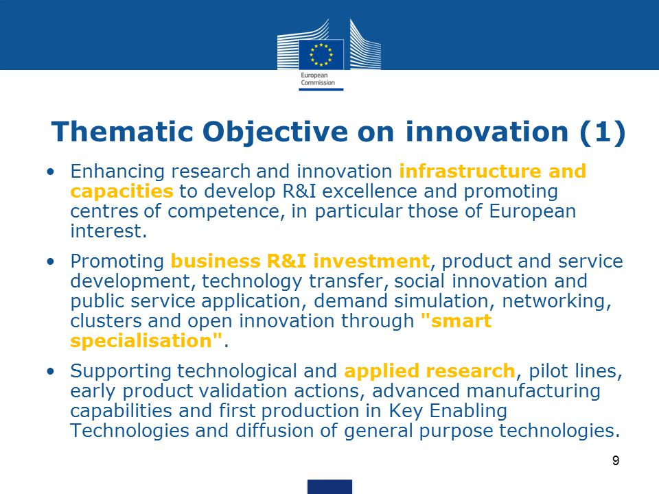 Thematic Objective on innovation (1)