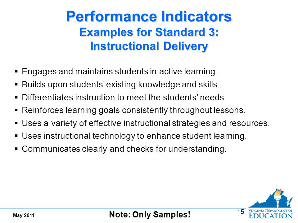 Teacher Performance Standard 4: Assessment of and for Student Learning