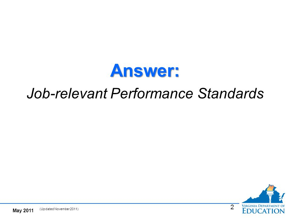 What are Performance Standards