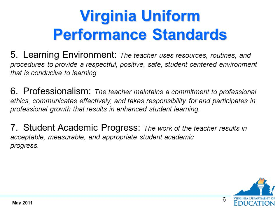 Performance Standards and Evaluation Criteria for Teachers: Two Tiers
