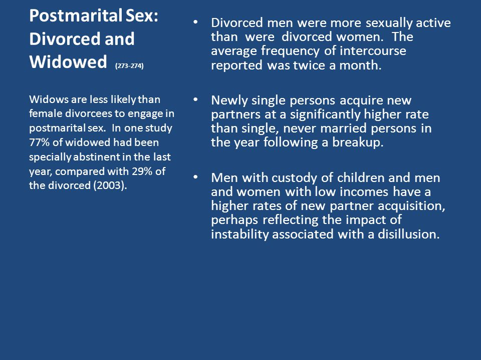 what is the average frequency of intercourse in married couples