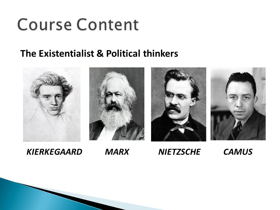 Course Content The Existentialist & Political thinkers
