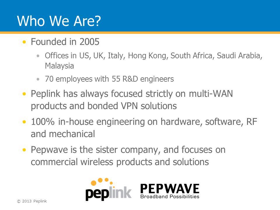Peplink Balance The Comprehensive Network Solution - ppt