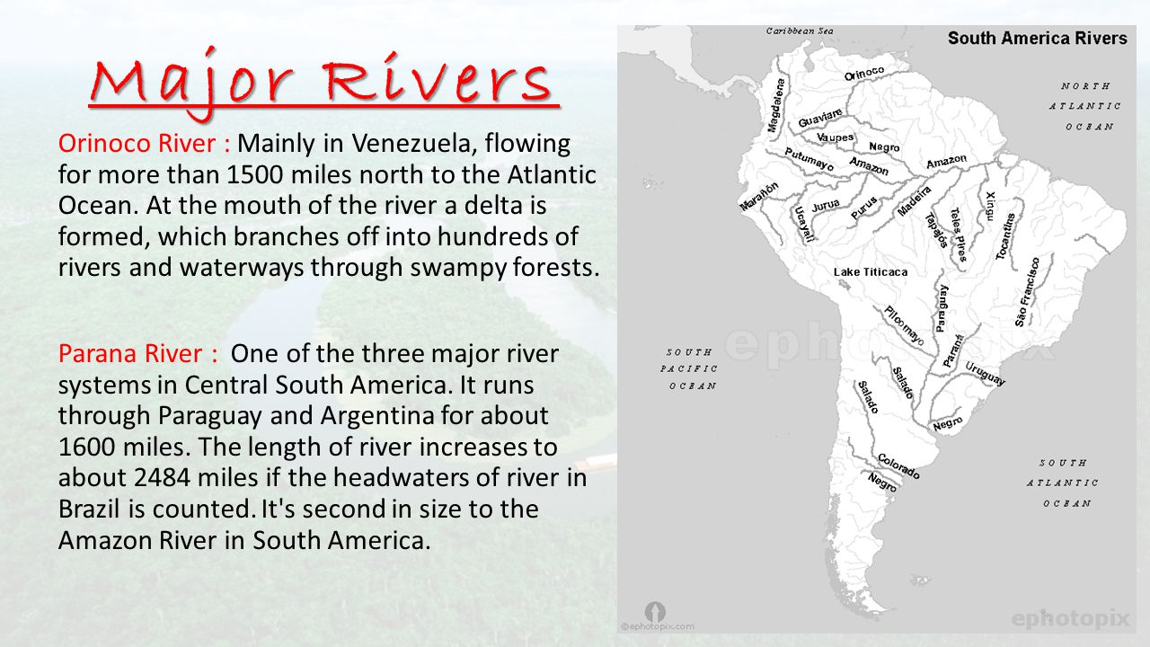 SOUTH AMERICA Session ppt download on major river in united states of america, major rivers in central america, ponds in north america, hospitals in north america, political boundaries in north america, largest river in north america, flora in north america, major mountain ranges in europe, geography in north america, languages in north america, shale formations in north america, mountainous regions in north america, major river basins of the world, colorado river map north america, viscacha in north america, major rivers latin america, forts in north america, rivers of north america, major rivers russia, climate in north america,