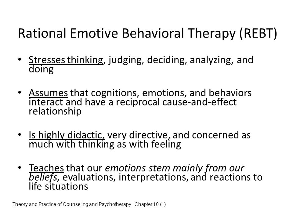 Rational Emotive Behavioral Therapy (REBT)