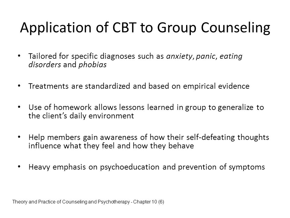 Application of CBT to Group Counseling