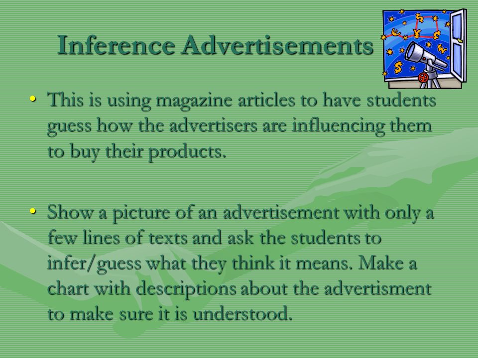 Inference Advertisements