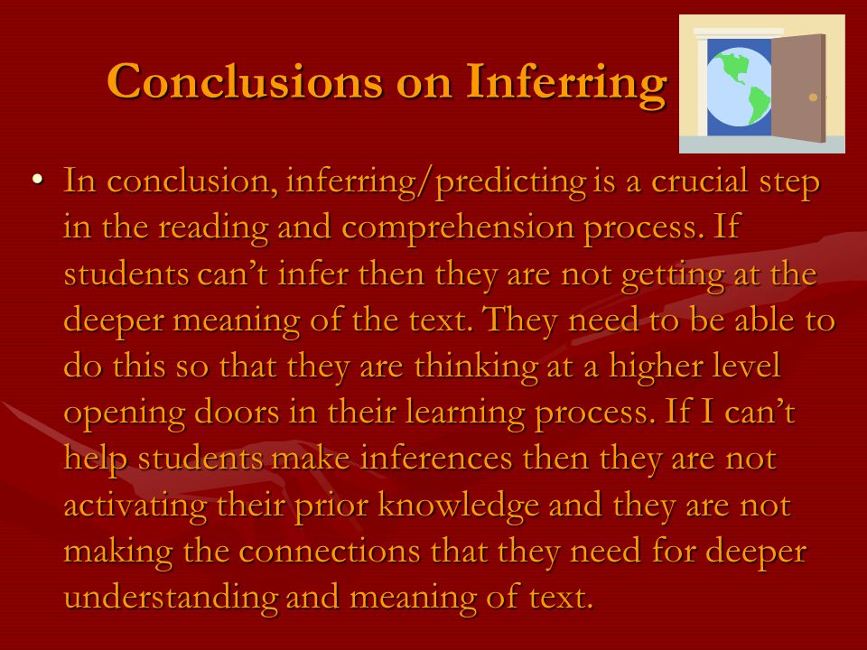 Conclusions on Inferring