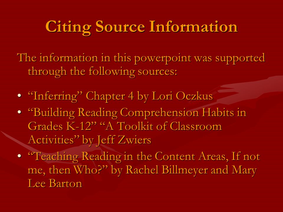 Citing Source Information