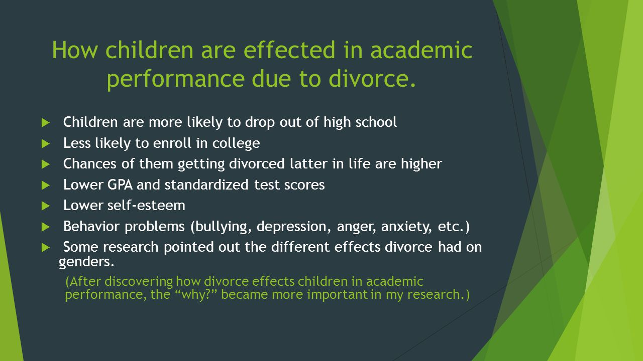 effects of divorce on college students