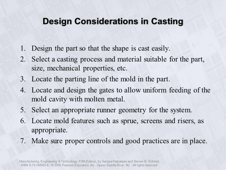 Metal Casting: Design, Materials, and Economics - ppt download