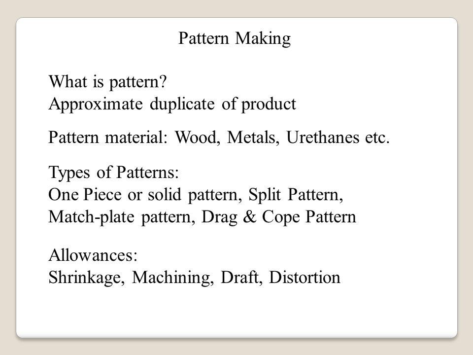 SAND CASTING Sunil Sutar MTech Design Engineering M P Gururajan Custom What Is Pattern