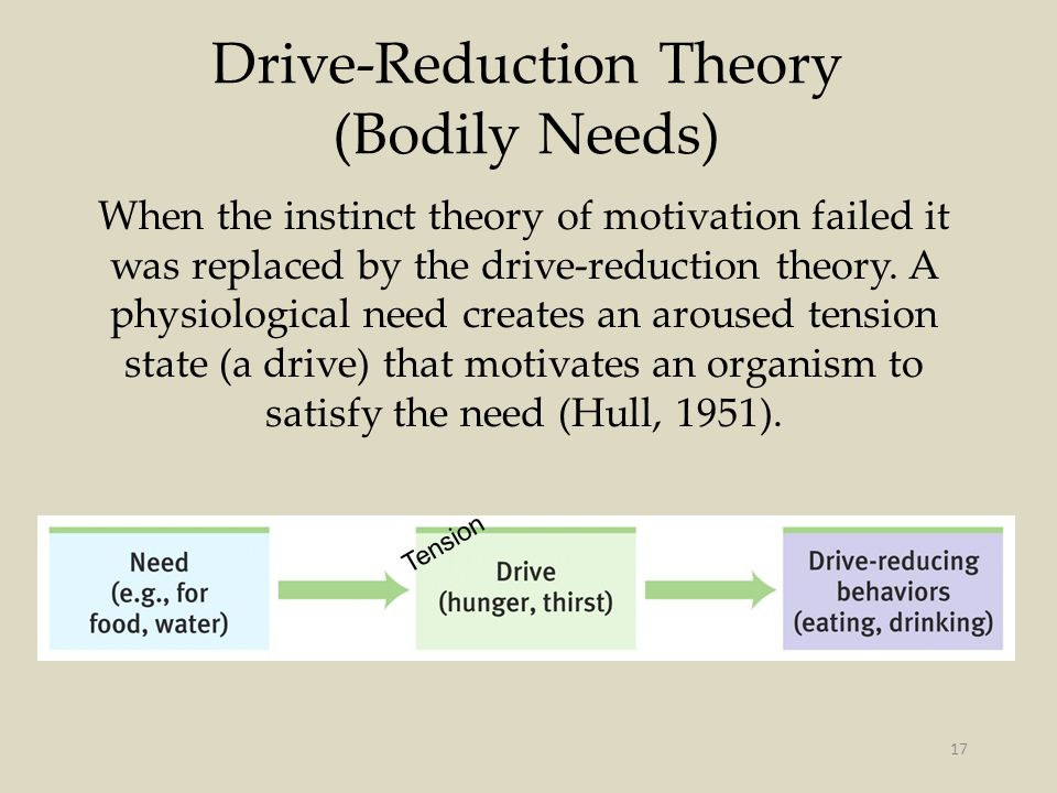 Drive-Reduction Theory (Bodily Needs)