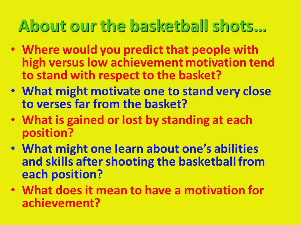 About our the basketball shots…