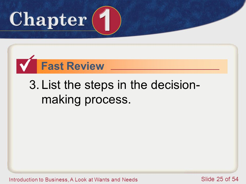 List the steps in the decision-making process.