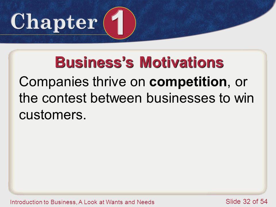 Business's Motivations